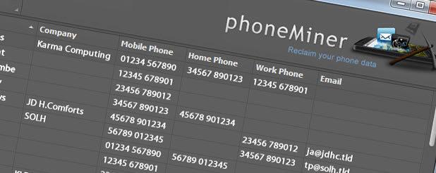 phoneMiner