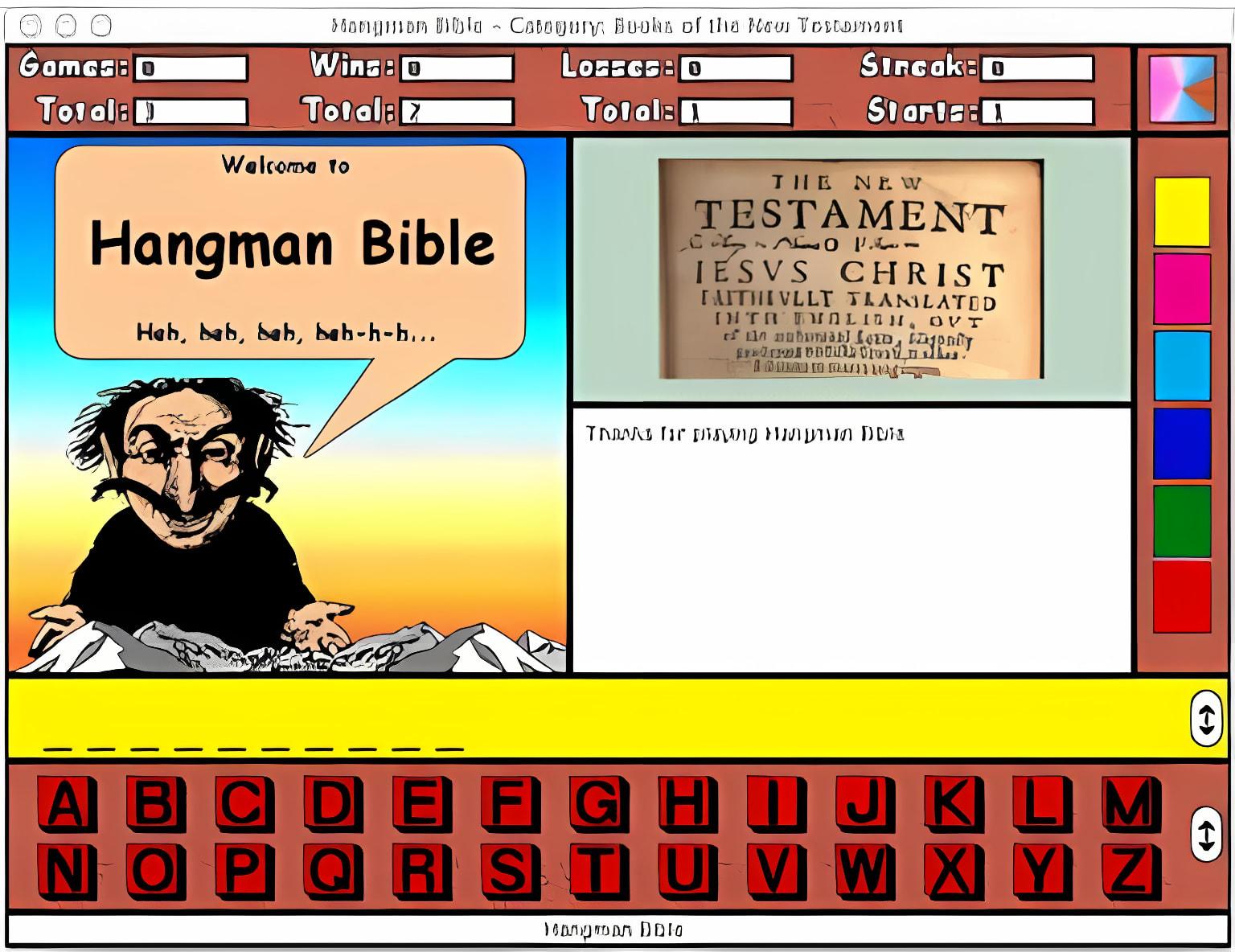 Hangman Bible