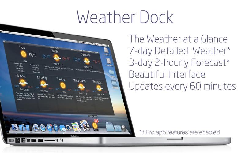 Weather Dock: Accurate desktop forecast report