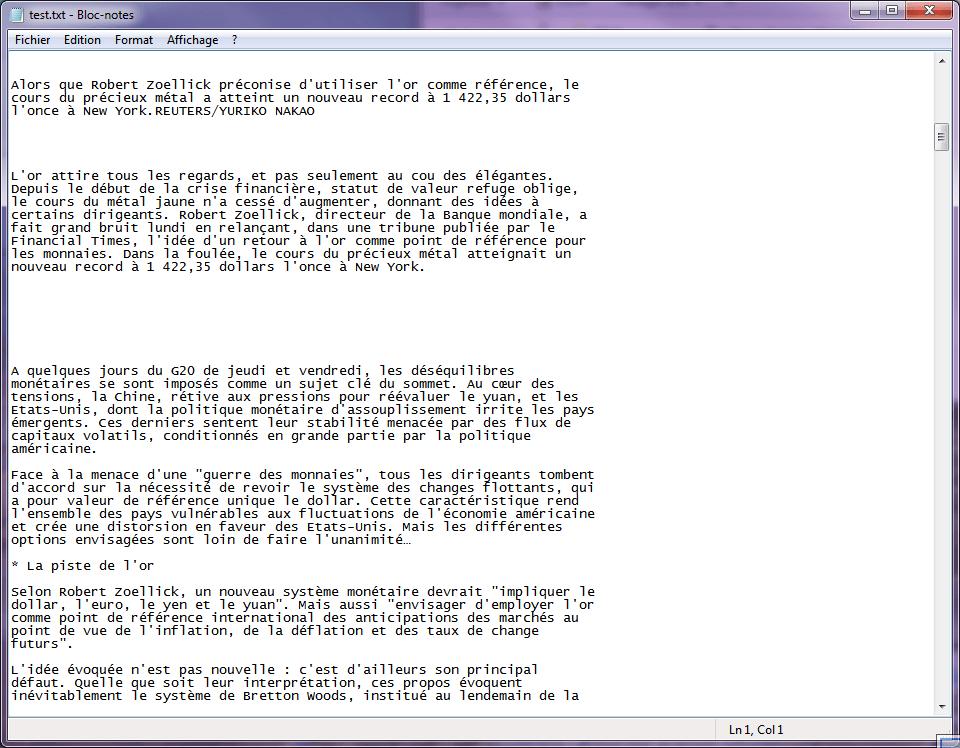 HTMLAsText