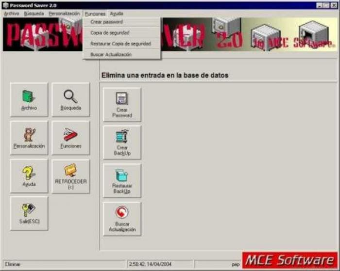 MCE Software Password-Saver