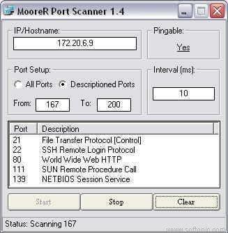 MooreR Port Scanner