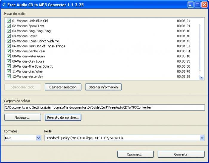 Free Audio CD To MP3 Converter