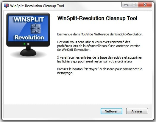 WinSplit Revolution CleanupTool
