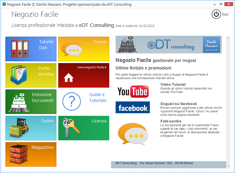 Negozio facile download for Software gratis arredamento interni italiano
