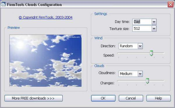 Firmtools Clouds Screensaver