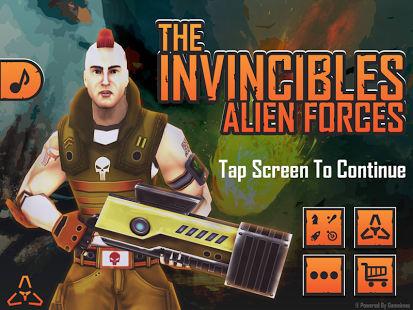 Las fuerzas alienígenas Invinc