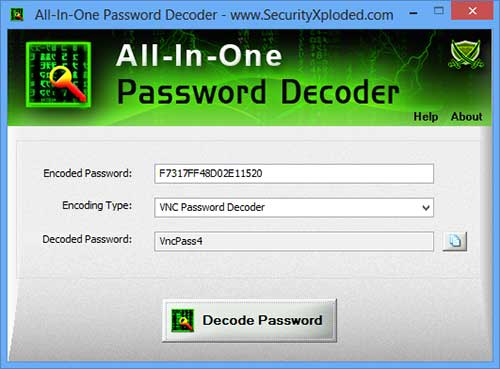 All In One Password Decoder