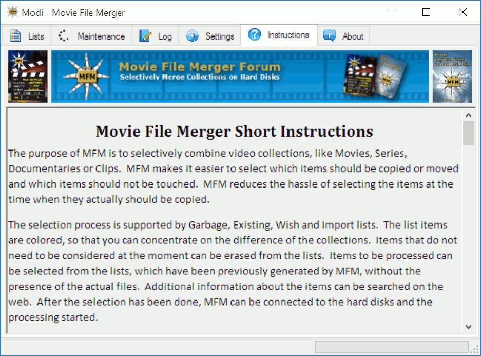 Movie File Merger