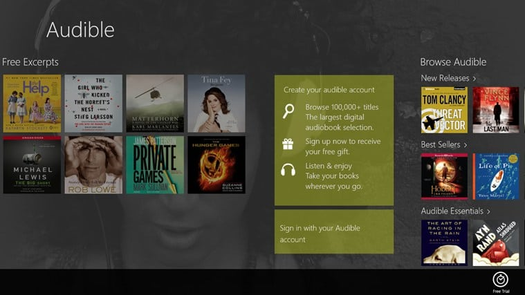 Audible - Audiobooks and more for Windows 10