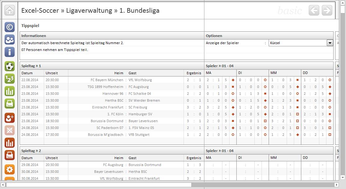 Excel soccer ligaverwaltung 1 bundesliga download - Germany bundesliga league table ...