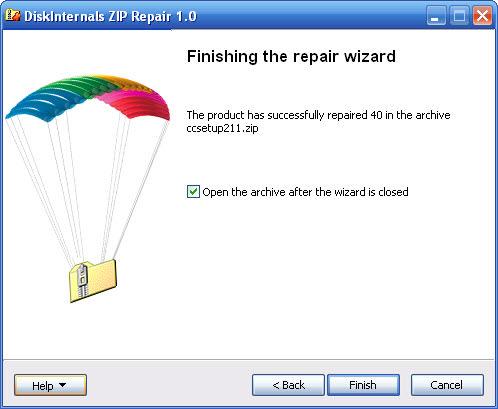 DiskInternals ZIP Repair