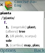 MSDict Concise Italian Paravia Dictionary