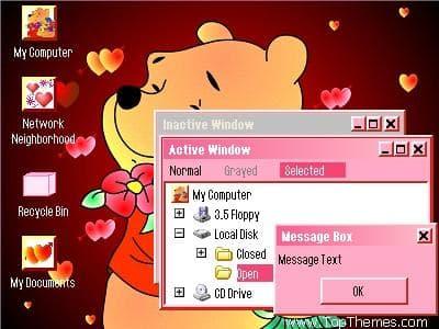 Pooh Valentine Theme