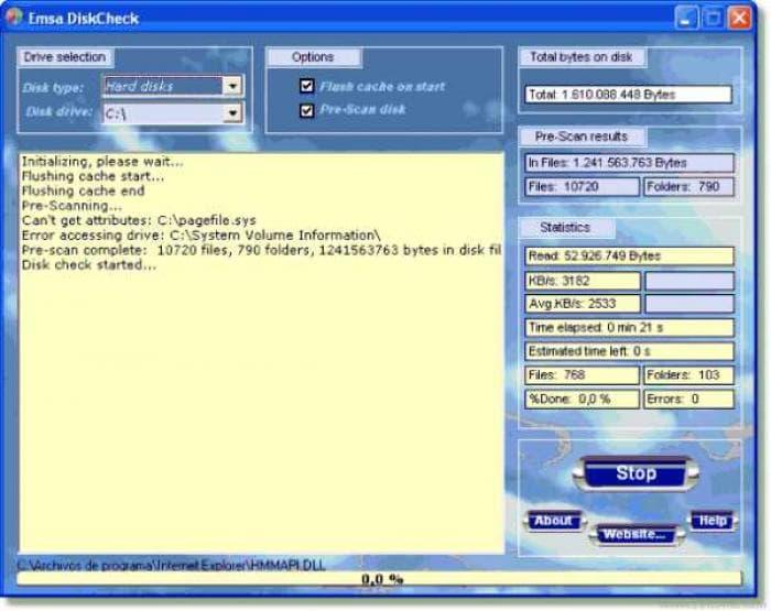 Emsa Disk Check