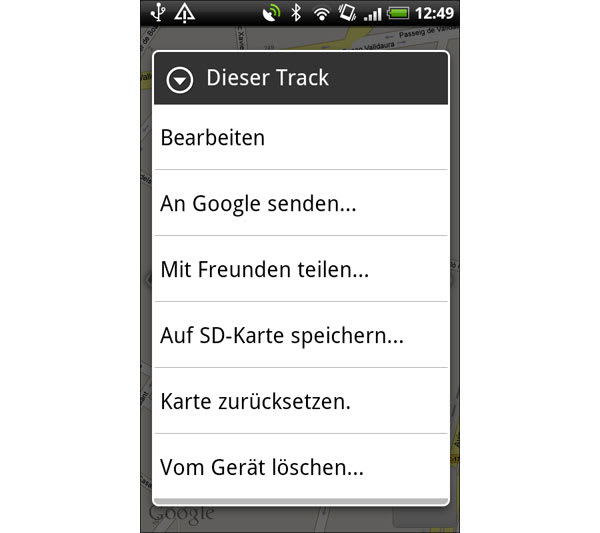 My Tracks for Android