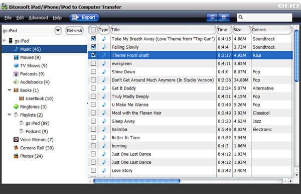 iStonsoft iPad/iPhone/iPod to Computer Transfer
