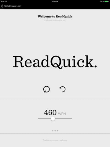 ReadQuick - Speed Reader for iOS 2.0.1