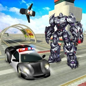 Police Car Transformer Robot Wars