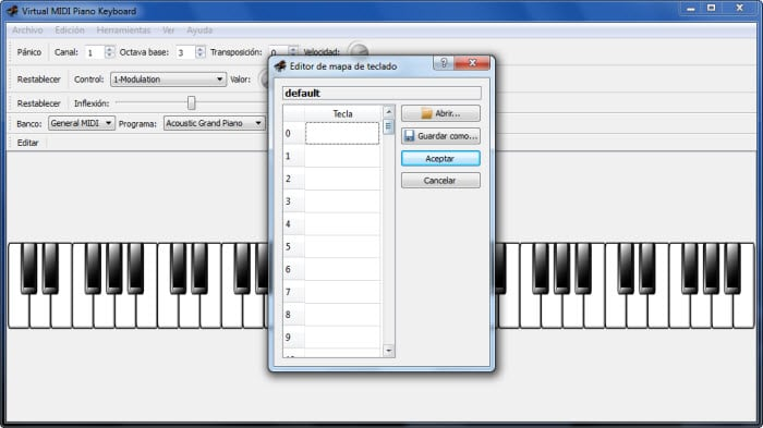 Virtual Midi Piano Keyboard