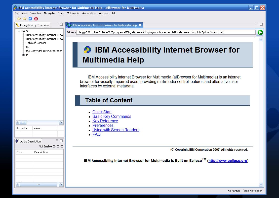 IBM Accesibility Internet Browser
