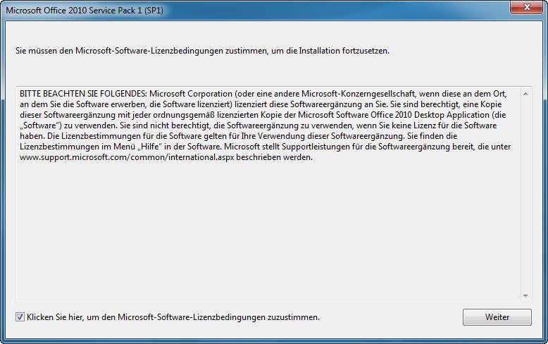 Microsoft Office 2010 Service Pack 1 (SP1)