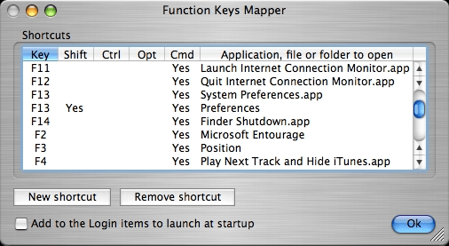 Function Keys Mapper