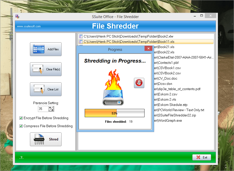 SSuite File Shredder
