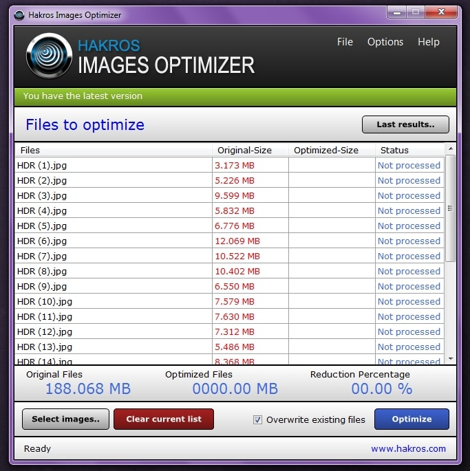 Hakros Images Optimizer