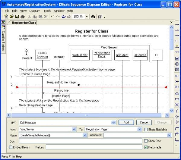 Sequence Diagram Editor