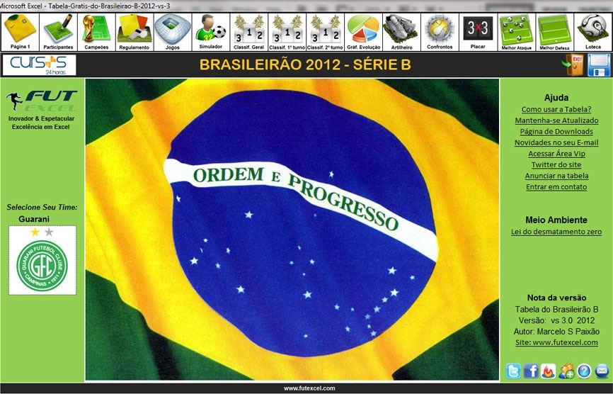 Tabela do Brasileirão 2012