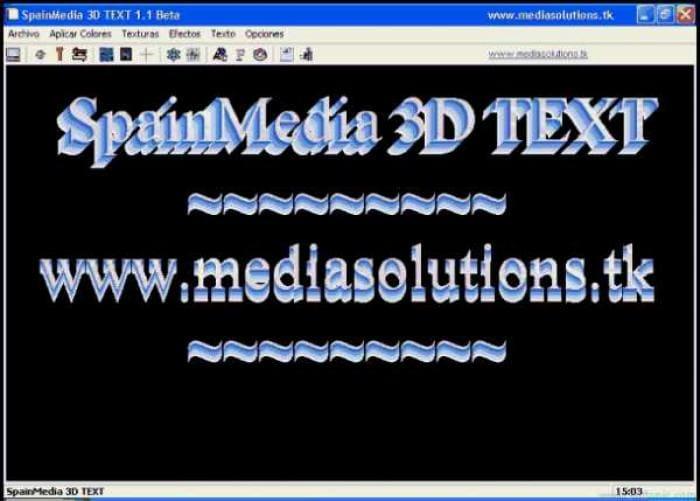 SpainMedia 3D TEXT