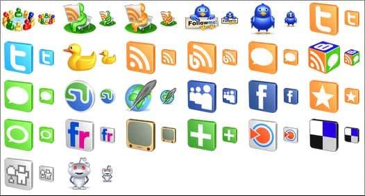 Free 3D Social Icons