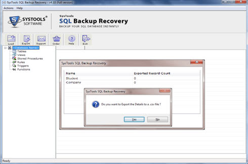 SQL Backup Database Recovery Tool