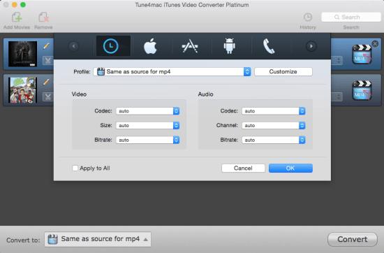 Tune4Mac iTunes Video Converter Platinum