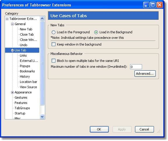 Tabbrowser Extensions
