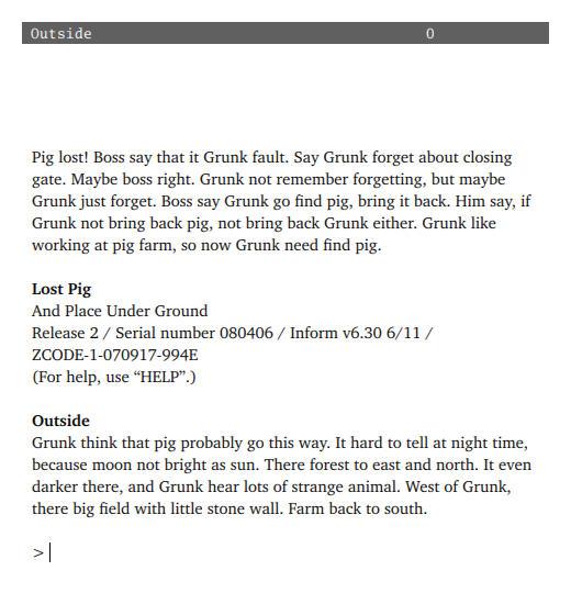Lost Pig