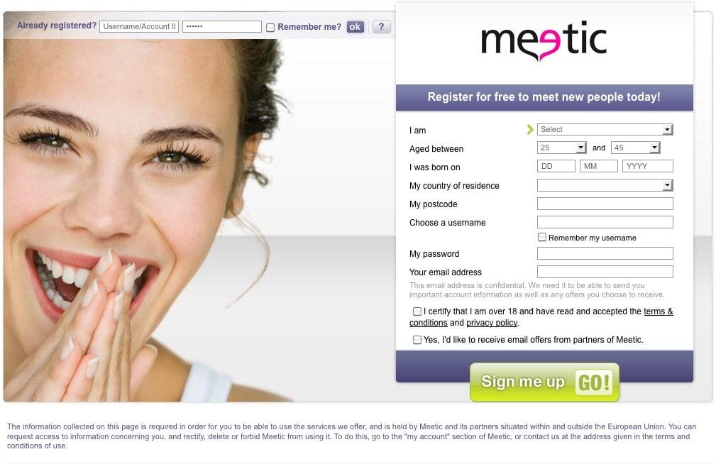 Le meilleur: meetic version web