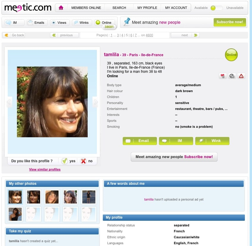 free website dating online Review your matches free at chemistrycom complete our famous personality test, created by dr helen fisher, and get matched with singles interested in finding a relationship through online dating and personals.