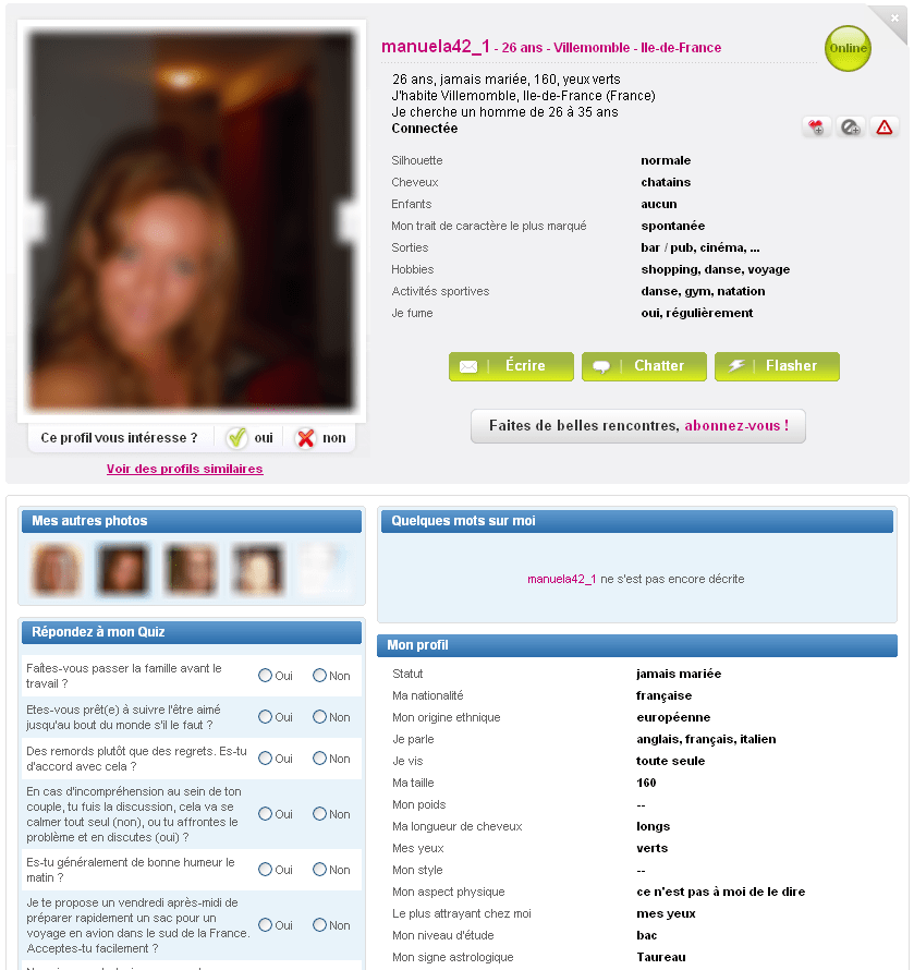 Forum sur le site de rencontre meetic