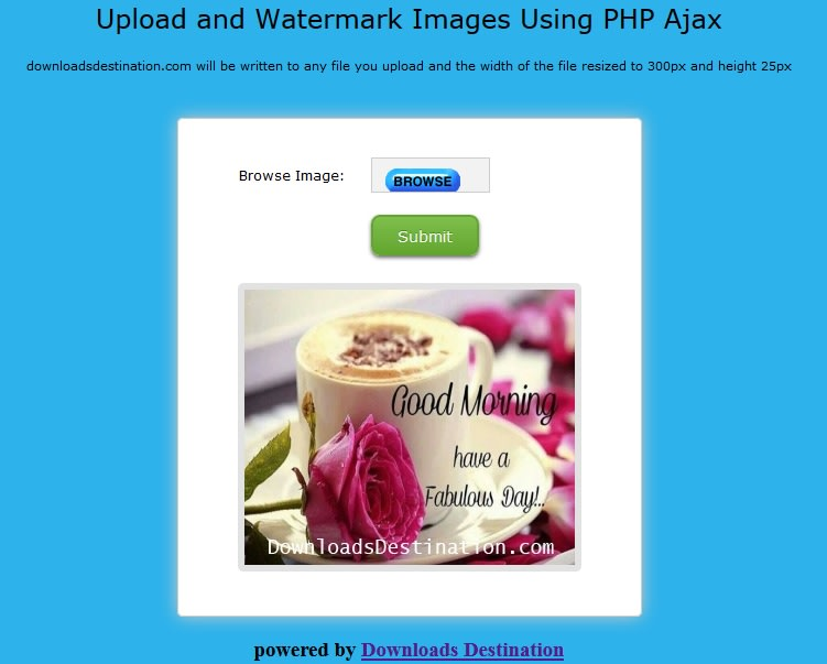 Adding watermarks to images using PHP