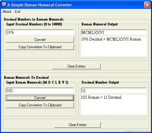 A Simple Roman Numeral Converter