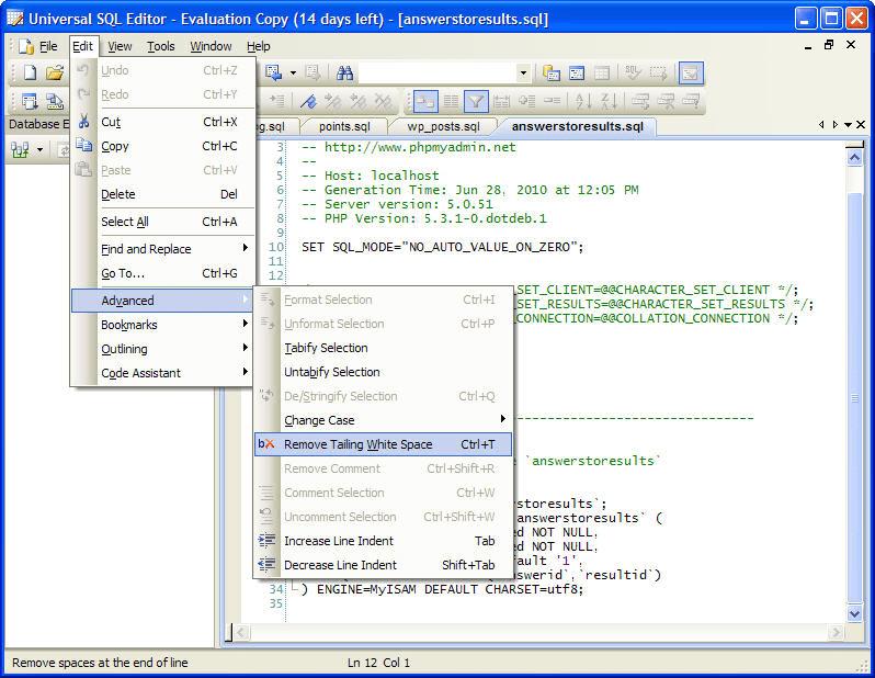 Universal SQL Editor