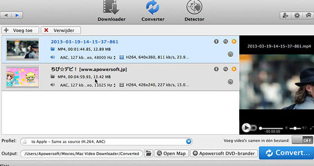 Apowersoft Video Converter voor Mac
