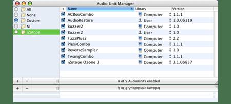 Audio Unit Manager