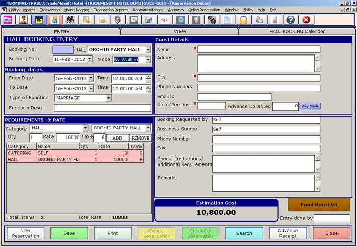 Trademesoft Hotel Hotel Management Software Download