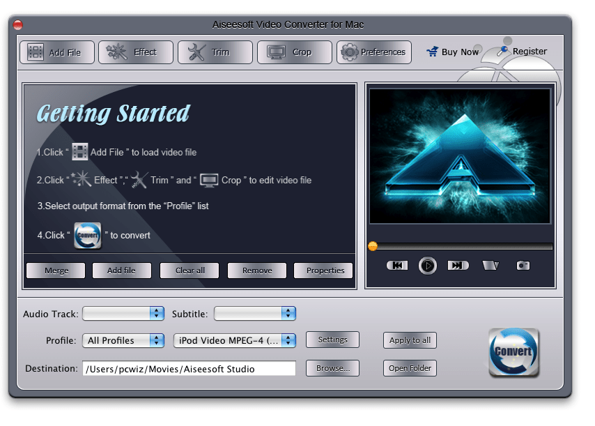 Aiseesoft Video Converter for Mac