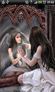Angel in Mirror Live Wallpaper