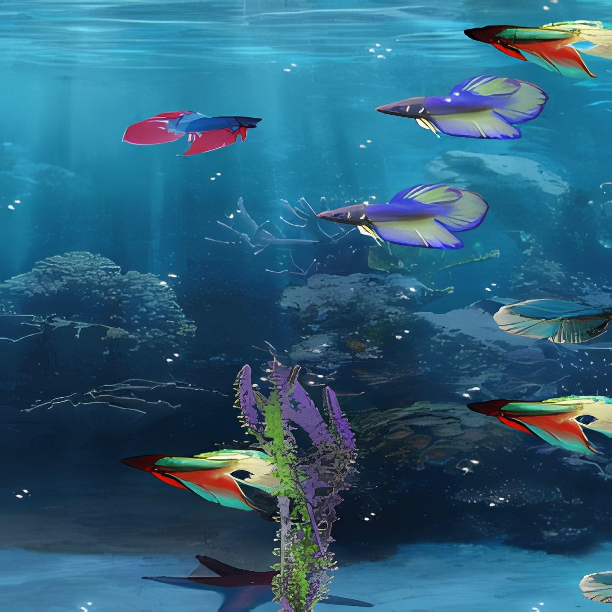 Beta Fish in 3D Live Wallpaper