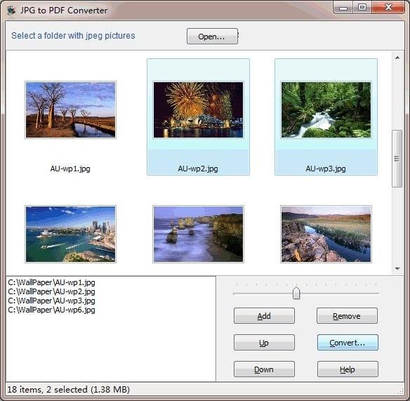 Wondersoft JPG to PDF Converter